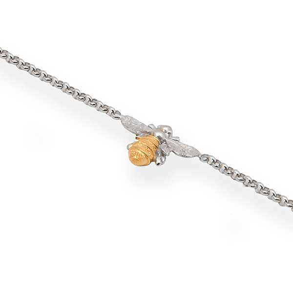 Single bee bracelet in gold and silver