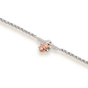 Single bee bracelet in rose gold