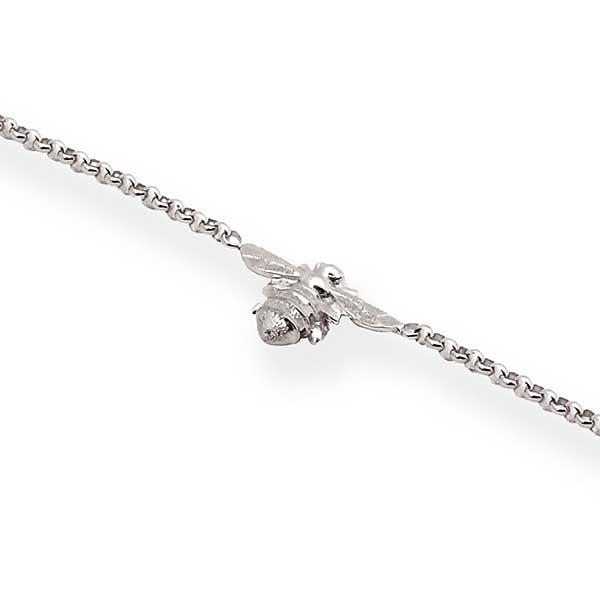 Single bee bracelet in silver