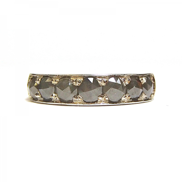 Grey rose cut diamond eternity ring from the Lydia's Bees collection