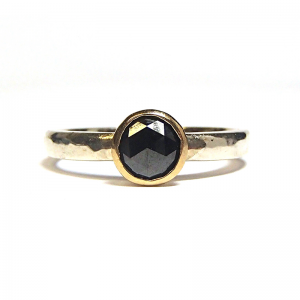 Black rose cut diamond ring from the Lydia's Bees collection