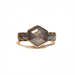 Smokey rose cut diamond ring from the Lydia's Bees collection