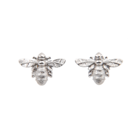 Bee stud earrings in silver