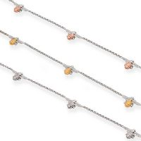 Bracelets with chain of bees in gold, rose gold and silver