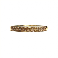 Yellow gold ring with rose cut diamonds